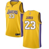 e048a613226 Los Angeles Lakers Basketball Trikots 2018 LeBron James 23# Road Trikot  Swingman
