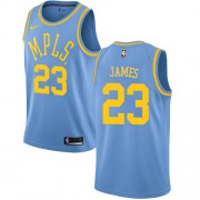 Los Angeles Lakers Basketball Trikots 2018 LeBron James 23# Light Blue Hardwood Classics Swingman..