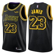 Los Angeles Lakers Basketball Trikots 2018 LeBron James 23# City Swingman..