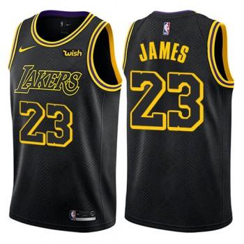 Basketball Trikot Kinder Los Angeles Lakers 2018 LeBron James 23# City Swingman
