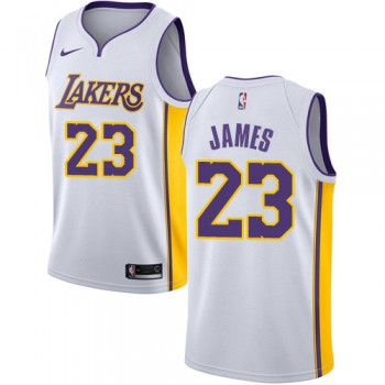 Los Angeles Lakers Basketball Trikots 2018 LeBron James 23# Home Trikot Swingman